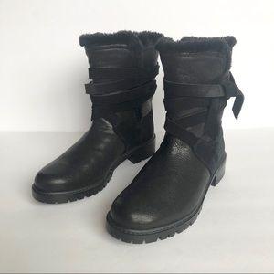 Stuart Weitzman Snowfield Faux-Fur Ankle Boots 6 M